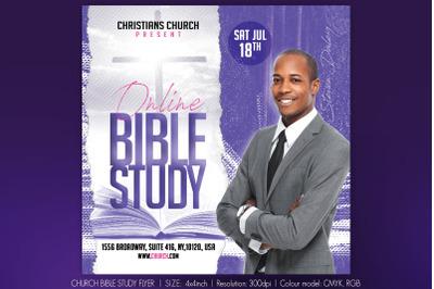 Church Bible Study Flyer