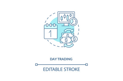Day trading concept icon