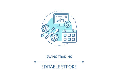 Swing trading concept icon