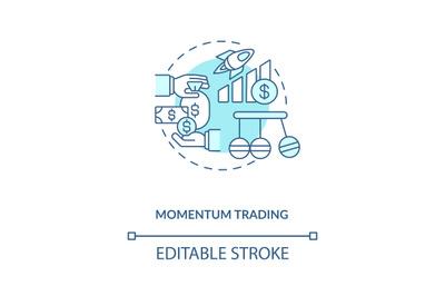 Momentum trading concept icon