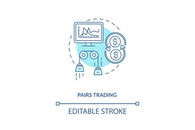 Pairs trading concept icon