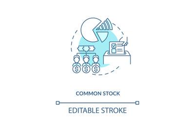 Common stock concept icon