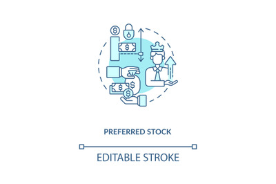 Preferred stock concept icon