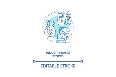Industry-based stocks concept icon
