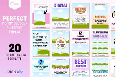Perfect Mommy Blogger Pinterest Template