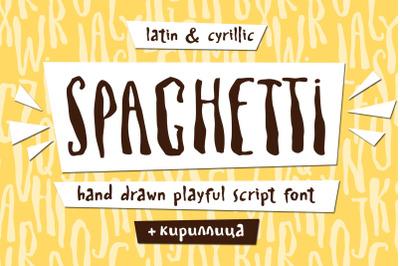 Spaghetti Cyrillic playful font