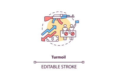 Turmoil concept icon