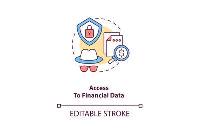 Access to financial data concept icon