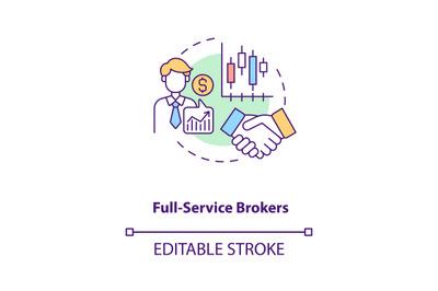 Full-service brokers concept icon