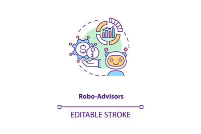 Robo-advisors concept icon