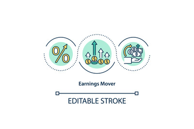 Earnings mover concept icon