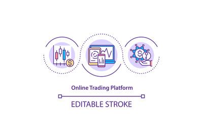 Online trading platform concept icon