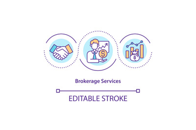 Brokerage services concept icon