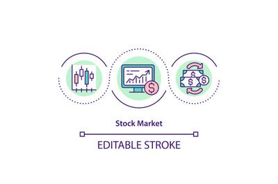 Stock market concept icon