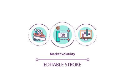Market volatility concept icon