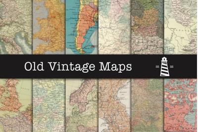 Vintage map textures