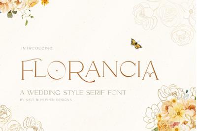 Florancia Serif Font (Wedding Fonts, Serif Fonts, Stunning Fonts)