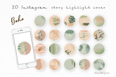 Instagram Boho Story Highlight Icons