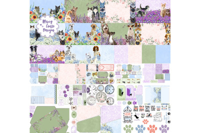 Cats & Dogs Printable Journal & Paper Crafts Kit