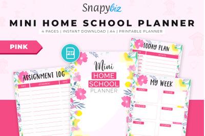 Mini Home School Planner - Pink