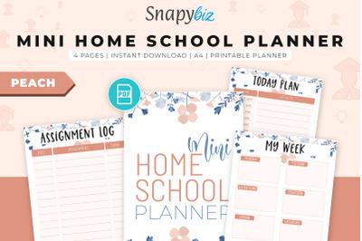 Mini Home School Planner (Peach)