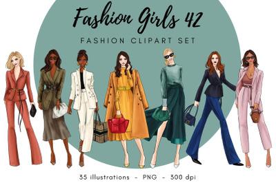 Fashion Girls 42 Fashion clipart set