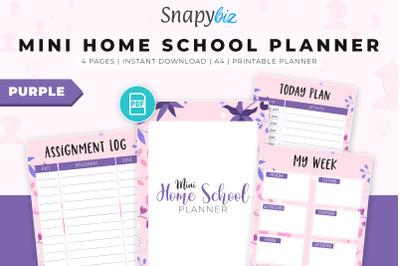 Mini Home School Planner (Purple)-