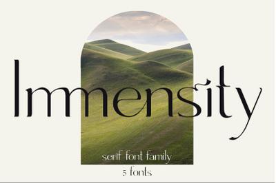 Immensity - stylish ligature serif font family