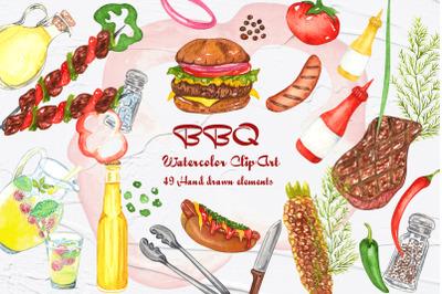 BBQ Watercolor Clipart