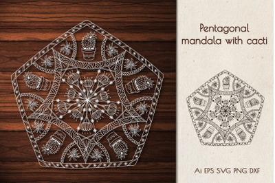 Mandala with cacti