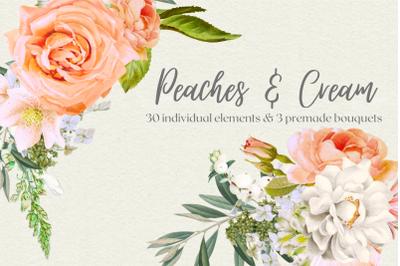 Peaches and Cream Vintage florals