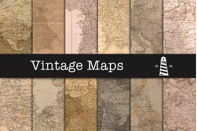 Vintage Map Textures, Antique Maps