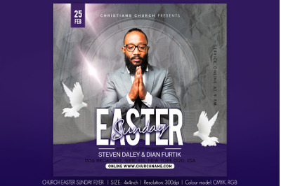 Church Easter Sunday Flyer