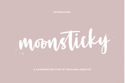Moonsticky Handwritten Font