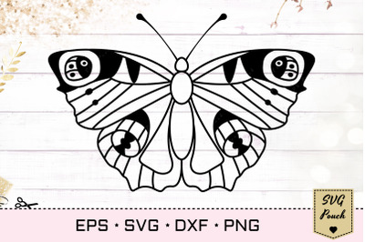 Peacock Butterfly SVG