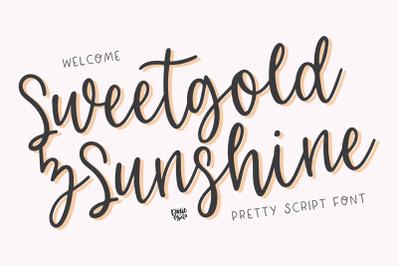 SWEETGOLD & SUNSHINE Cursive Font
