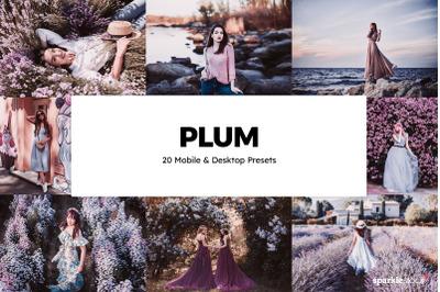 20 Plum Lightroom Presets & LUTs