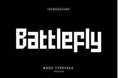 Battlefly Geometric Boxy Typeface