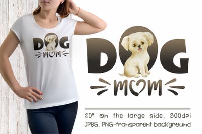 Labrador Retriever Dog Mom Sublimation Design
