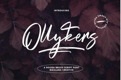 Ollykers Brush Script Font
