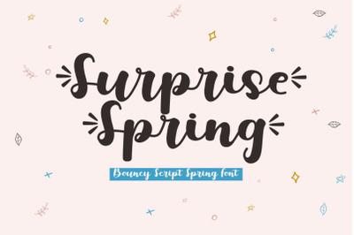 Surprise Spring - A Bouncy Script Font