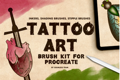 TATTOO ART BRUSH KIT FOR PROCREATE