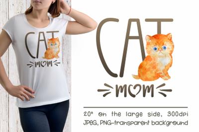 Persian Cat Mom Sublimation Design