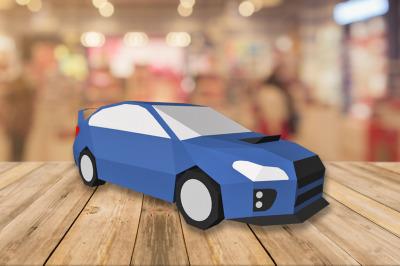 DIY Sedan Car  - 3d papercraft