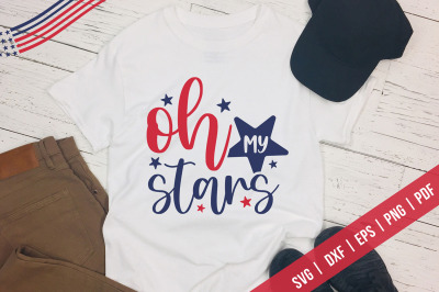 Oh My Stars, Independence Day, 4th Of July SVG