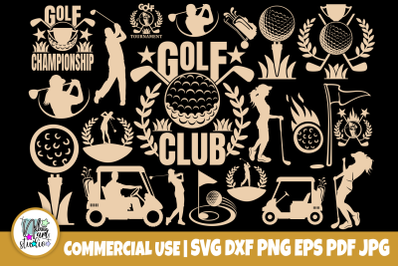 Golf SVG Bundle, Sports Svg, Logo Design Cut Files