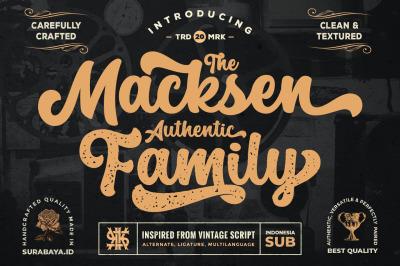 Retro Script - The Macksen Font