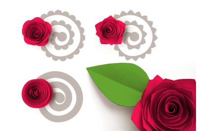 Rolled Paper Flowers - Basic Petal Shapes | SVG | PNG | DXF | EPS