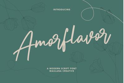 Amorflavor Script Font