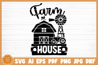 Farm House SVG Cut File